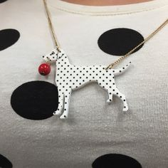 Spots, spots everywhere! Get the look with our new Dotty Dalmatian Necklace: http://www.tattydevine.com/dotty-dalmation-necklace.html