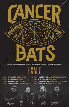 Canadian hardcore punk metal band Cancer Bats announce US headline tour with Exalt