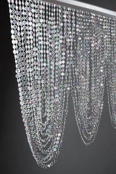 Crystal Swag Valance with 66 garlands Window dressing . 35 Crystal Swag Valance with 66 garlands Crystal Curtains, Crystal Garland, Beaded Curtains, Crystal Decor, Crystal Tree, Crystal Beads, Swag Curtains, Bedroom Curtains, Swarovski Crystals