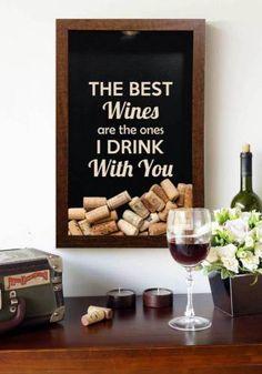 Quadro para Coleções de Rolhas The Best Wines
