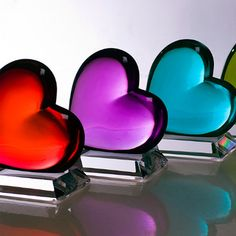 Loving Heart Paperweights