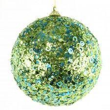 120MM GLITTER BALL BLUE/GREEN