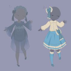 Blue outfit adopts II [OPEN 1/2] by MantaTheMisukitty.deviantart.com on @DeviantArt