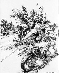 13.7 тис. вподобань, 28 коментарів – Kim Jung Gi US (@kimjunggius) в Instagram: «Tribute to Gung Ho, by #KimJungGi.  Comic book by Thomas Van Kummant & Benjamin Von Eckartsberg.…»