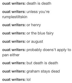 Yup STAY DEAD GRAHAM. WE LOVED YOU FOR THE TIME YOU SERVED BUT I'M OVER YOU. :P