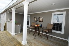 Front porch on a ranch house - Home Designs FREE »  MODULAR HOME PORCH PLANS