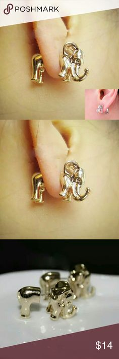 Coming soon 3d Elephant fashion earring jewelry Coming soon 3d Elephant fashion earring jewelry  Rose gold or silver Jewelry Earrings