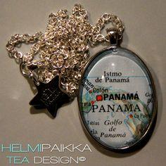 Tilaustyönä karttakoru Panama <3