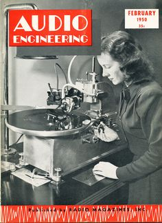 February 1950 cover of the Audio Engineering magazine in Reel2ReelTexas.com's vintage recording collection