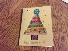 Reciclando papeles de colores para felicitar las Navidades... Merry Christmas!!!