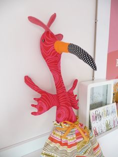 A Melly and Me Florence the Flamingo pattern.