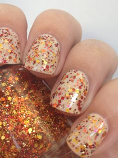 That Autumn Do It Fall Glitter Mix Indie Nail Polish by Noodles Nail Polish on Etsy.  Perfect fall glitter topper!