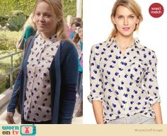 Julia's apple printed shirt on Parenthood. Outfit Details: http://wornontv.net/24588 #Parenthood #fashion