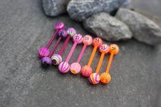 UV Acrylic Nipple Barbell Piercing at MyBodiArt Tongue Piercing Jewelry, Cool Piercings, Barbell Piercing, Piercing Ideas, Tongue Bars, Tongue Rings, Nipple Rings, Body Mods, Body Jewelry