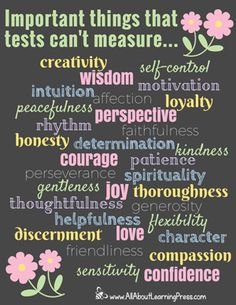 Important Things That Tests Can't Measure - All About Learning Press