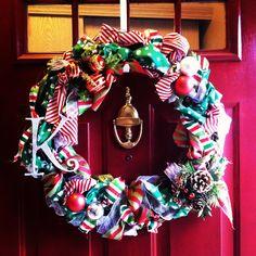 Keep Calm & Carry On...: A Girls Night {Christmas Ribbon Wreath Tutorial}