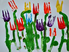 tulip painting for spring paint with plastic forks and make some ...
