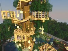 Minecraft TREE HOUSE Build Tips & Ideas! YouTube JERACRAFT