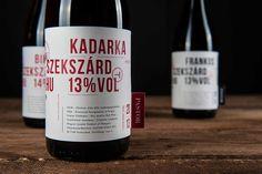 Wine labels for Pastor winery's Kadarka, Blaufränkisch and Bikavér.