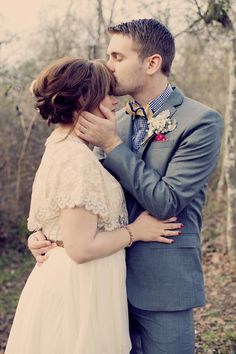 vintage inspired bride + groom // photo by Joyeuse Photography