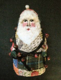 OOAK Primitive Folk Art Santa Lil' Claus...with by FolkArtWorks