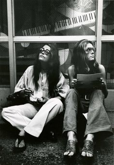 Kate Millett (left) and Gloria Steinem in New York, 1971. Photo by Jill Krementz.