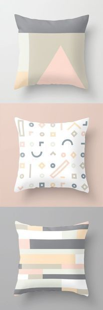 Inspiration / Minimal and simple geometric elements. Perfect for Scandinavian home. Clean and modern pattern. Eyebrow Makeup Tips Scandinavian Pattern, Scandinavian Interior Design, Scandinavian Home, Scandinavian Pillows, Palettes Color, Colour Schemes, Illustration Photo, Pillow Inspiration, Design Inspiration