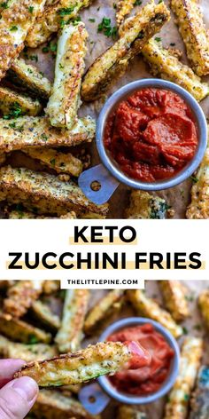Sometimes I just need some comfort food, and these zucchini fries meet my requirements of tasting so naughty while being so good for you! #zucchinifries #ketofries #lowcarbfries #ketosidedishes #lowcarbsidedishes #keto #lowcarb Low Carb Side Dishes, Side Dish Recipes, Low Carb Recipes, Healthy Recipes, Snacks Recipes, Free Recipes, Main Dishes, Low Carb Appetizers, Yummy Appetizers