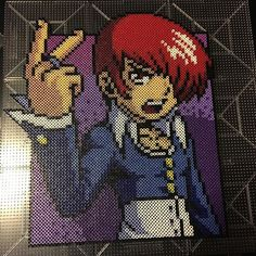 Iori Yagami - The King of Fighters perler beads by cutiecornercrafts