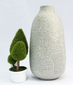 #papier_mache large size vase - available on our website and in our shops. To see more about this product, click here : https://mekong-plus.com/paper-mache/containers/vase-large-size.html