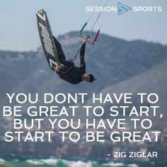 Don't be afraid! Step up your game! Kiteboarding