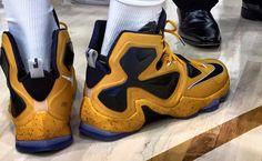 LeBron 13 Navy Gold