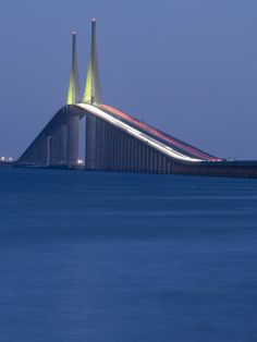 I have skydived but time I travelled over this bridge I was afraid. it just felt like I was sky rocketing into the sky. Sunshine Skyway Bridge, Tampa Bay, Saint Petersburg, Florida Photographic Print by John Coletti Tampa Florida, Florida Vacation, Florida Travel, Florida Home, Florida City, Clearwater Florida, Florida Keys, Sanibel Island, Sunshine Skyway Bridge