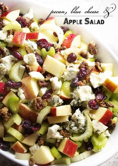 pecan blue cheese and apple salad maple glazed pecans blue cheese and ...