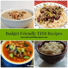 Budget Friendly THM Recipes- not all of these are gluten-free so choose wisely. :)