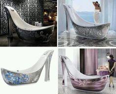 Shoe shaped bathes