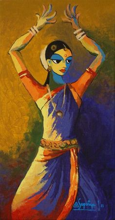 Indian Dance 01 Painting from GalleryToday.org