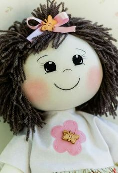 Doll face made with HTV my child doll dimensions Doll Crafts, Diy Doll, Doll Clothes Patterns, Doll Patterns, My Child Doll, Doll Face Paint, Homemade Dolls, Doll Eyes, Sewing Dolls