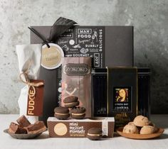 Buy Chocolate & Sweet Gift Baskets and Hampers from Gourmet Basket Australia. Hassle-free Chocolate gift basket delivery available! Chocolate Basket, Chocolate Hampers, Chocolate Sweets, Chocolate Gifts, Chocolate Box, Tin Gifts, Food Gifts, Gift Hampers, Gift Baskets
