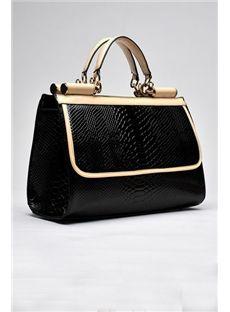 Deluxe Snake Print Women's Handbag