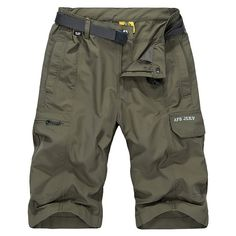 AFSJEEP Summer Mens Cargo Shorts Водоотталкивающие Дышащие Свободные Шорты
