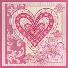 Frames of Hearts - Outlines Rubber Stamps - sorry this stamp co is out-of-business.