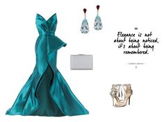 """Wearable Waterfall"" by scolab ❤ liked on Polyvore featuring Mark Bumgarner, Marchesa and Aspinal of London"