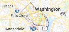Map of Arlington County, Virginia
