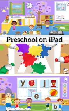 Play preschool on your iPad and iPhone - kids not only learn academic and social skills expected at preschool, but also a typical preschool classroom, setting and schedule. It is a great learning app to help young children get ready for preschool.