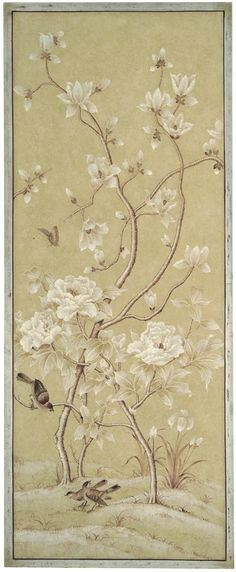 Bradburn Gallery: Right Beige Bird Panel:
