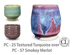 Smokey Merlot is a warm, dark purple glaze with a soft float of lilac over the surface. This glaze looks stunning well on smooth surfaces, over textured surfaces, and layered with our other Potters Choice glazes.