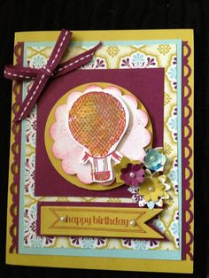 Up and Away - - Drawing with markers on your stamp and then stamping gives a two toned effect.
