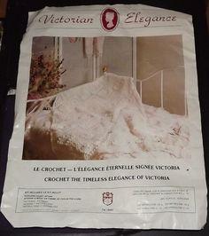 popcorn heart afgan kit - victorian elegance yarn - white 3 1/2 oz #loc #Boucle