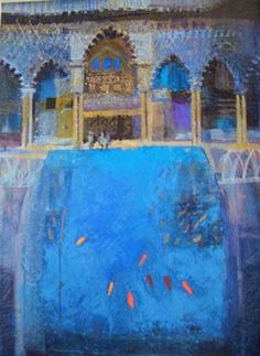 jean B Martin - fine artist, Abstract Landscape, Landscape Paintings, Abstract Art, A Utopia, Smoke Painting, Moroccan Art, Building Art, Contemporary Paintings, Art Techniques